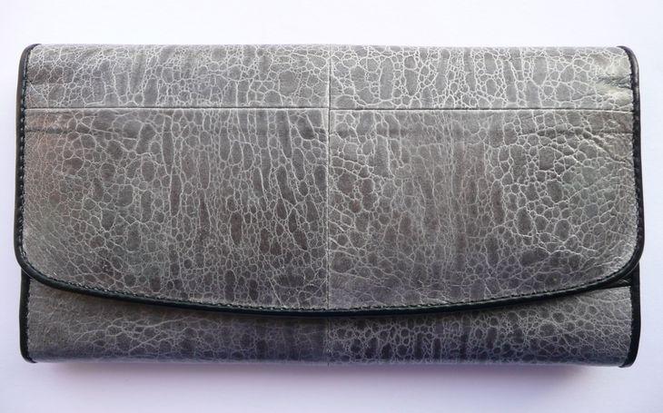 Peněženka z hadí kůže šedá velká 063