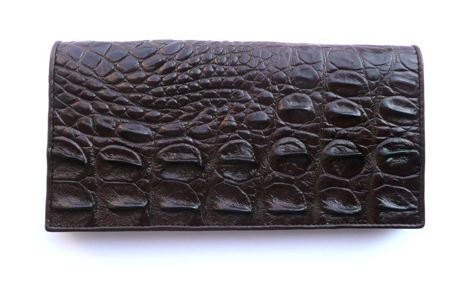 Peněženka z krokodýlí kůže hnědá velká 608