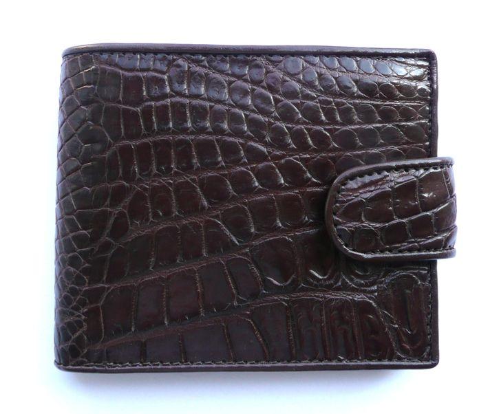 Peněženka z krokodýlí kůže hnědá Exclusive 611