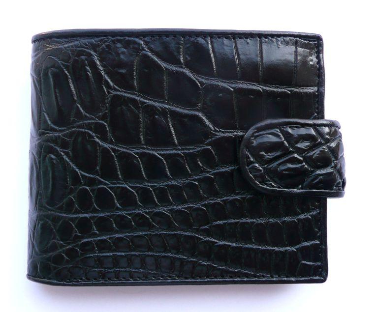 Peněženka z krokodýlí kůže černá Exclusive 612