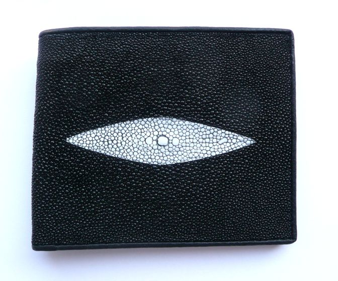 Peněženka z rejnočí kůže černá malá Classic 616
