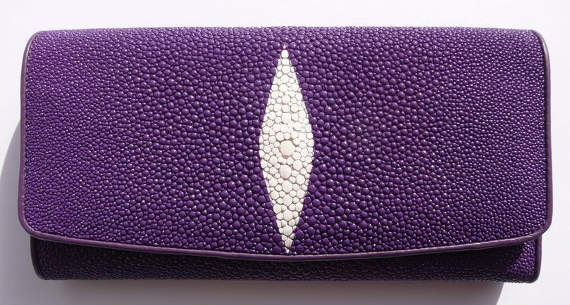 Peněženka z rejnočí kůže Violet velká 029