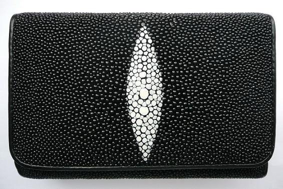 Peněženka z rejnočí kůže černá malá Exclusive 045