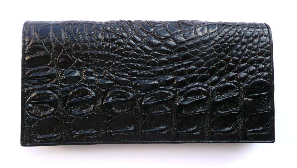 Peněženka z krokodýlí kůže černá velká