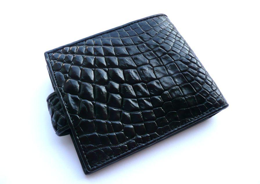 Peněženka z krokodýlí kůže černá Exclusive