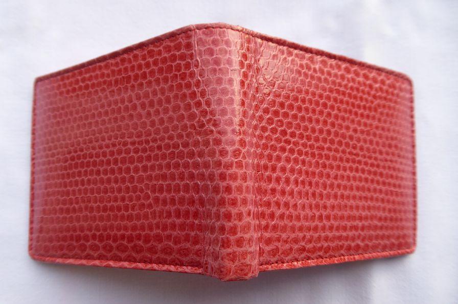 Peněženka z hadí kůže červená malá