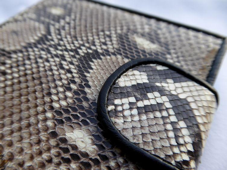 Peněženka z hadí kůže přírodní Krajta
