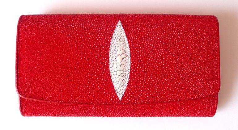 Peněženka z rejnočí kůže červená velká Exclusive